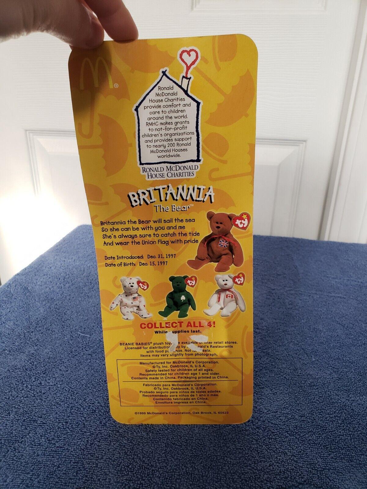 4c3cd08323b ... Ty Teenie Beanie Babies Britannia The Bear 1997 1997 1997 McDonalds USA  1993 Error Tag 2fee0a ...