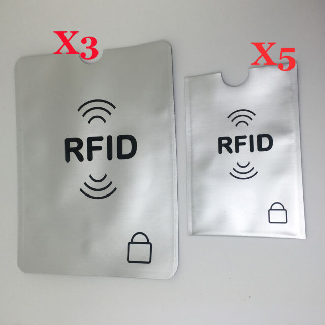 Rfid Secure Sleeve Passport Protector Blocking Shield Credit Card