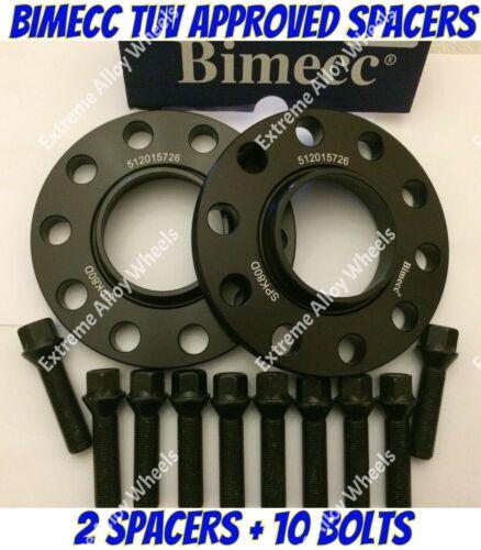 Los pernos Extendido BIMECC B Aleación Rueda Espaciadores 12mm BMW 1 2 3 4 5 serie M14X1.25