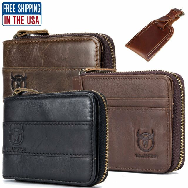 RFID Hunter Mens Genuine Leather Wallet ID Credit Card Holder Coin Purse Bifold