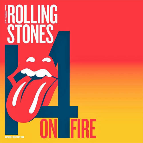 ROLLING STONES 14 ON FIRE Tour 2014 Commemorative ADMIT ONE TICKET / BOOKMARK
