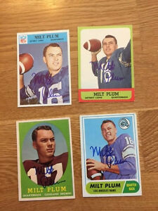 Detroit Lions Milt Plum signed 1966 Philadelphia Card