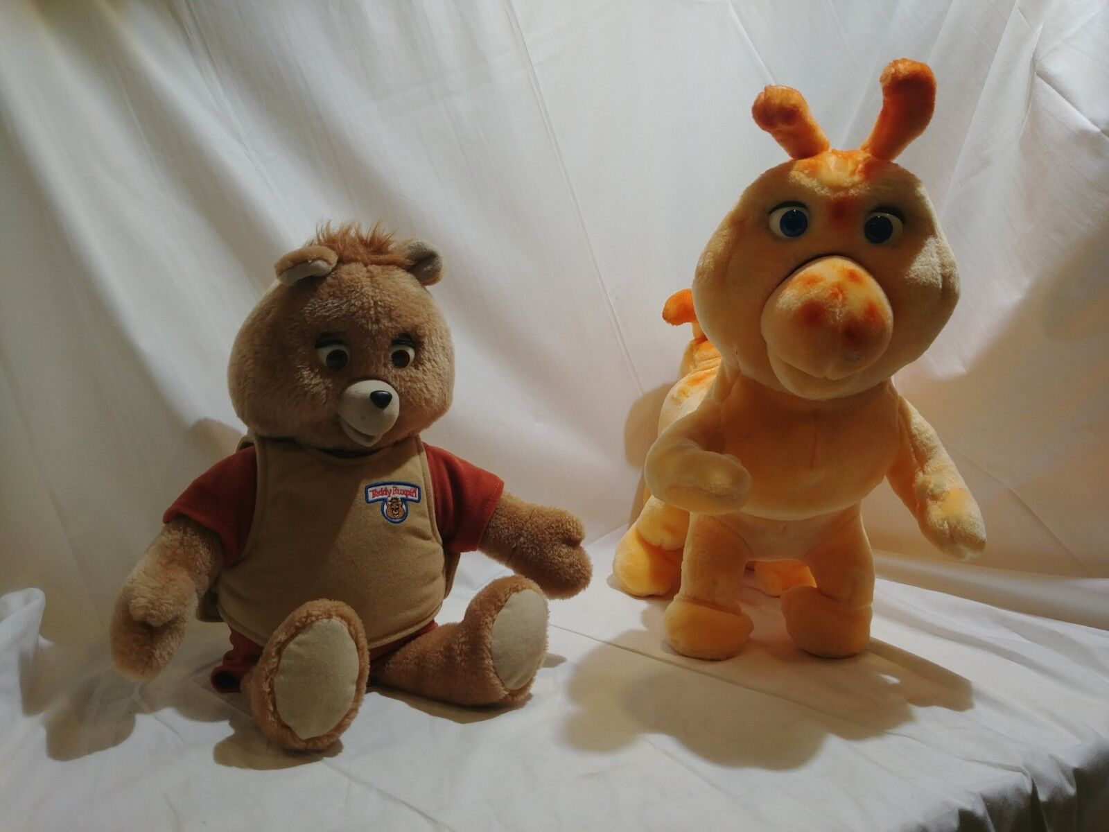 1985 Grubby and 2006 Storytelling Teddy Ruxpin