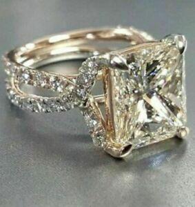 3-75-Ct-Princess-Cut-Diamond-14k-White-Gold-Over-Bridal-Engagement-Wedding-Ring
