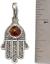 thumbnail 2 - Hamsa Hand Pendant 925 Sterling Silver Brown Baltic Amber Filigree Design  #41