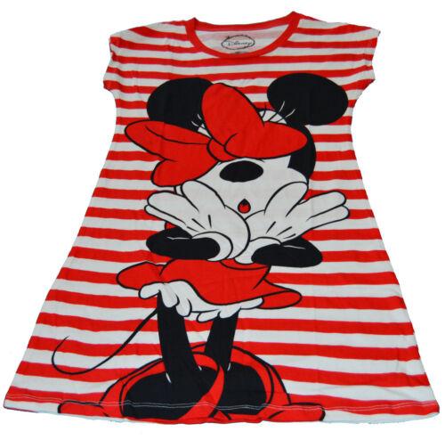 Disney Fashion Sleep Dorm Shirt Minnie Mouse Oh My Striped 2 Sided w Free Stick