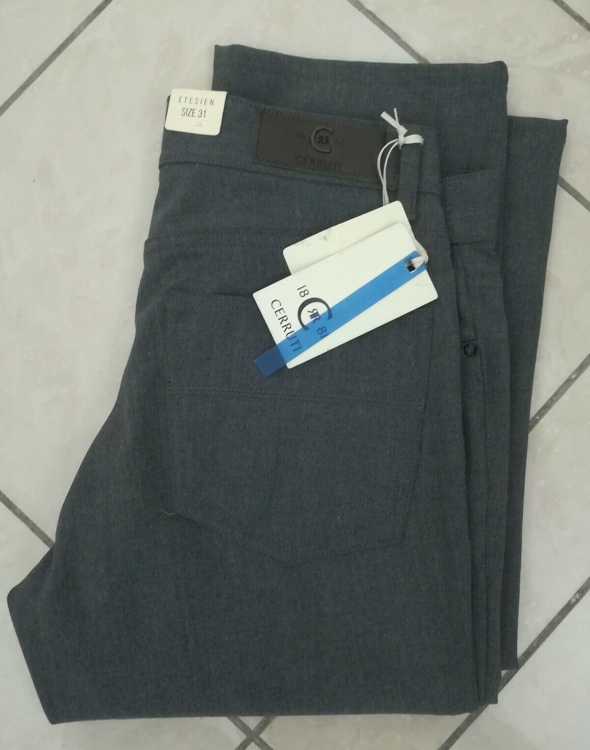 Jeans Cerruti in Lana Stretch Grigio medio Regular Fit Taglia Taglia Taglia 56 US42 Saldi e274f4