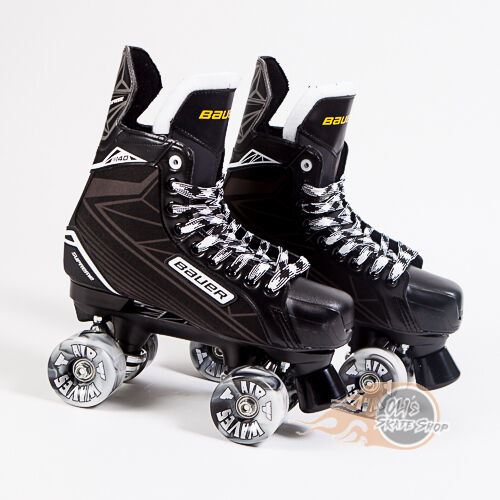 Bauer Quad Roller Skate Supreme S140 Playmaker Conversion Airwave Wheels
