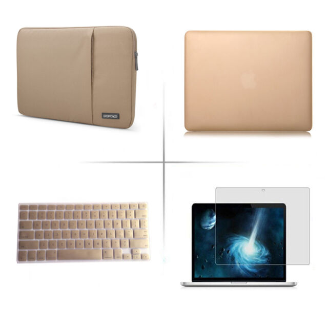 Satin Hard Case Rubberized Cover Sleeve bag For Apple Macbook Air Pro 11.6 13 15