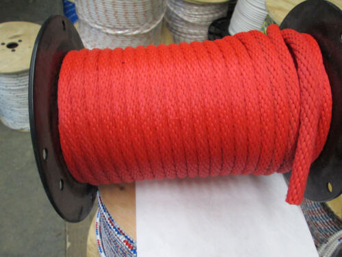 "ANCHOR ROPE DOCK LINE 3//8/"" X 100/' PREMIUM RED LINE MADE IN USA"