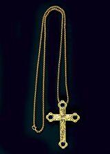 "New PECTORAL CROSS w/Chain (SBATS013G-B), Royal Blue, 36"", Christian, Clergy"
