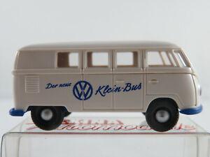 Brekina-VW-Kombi-T1a-1953-034-Der-neue-VW-Klein-Bus-034-in-weiss-1-87-H0-NEU-OVP