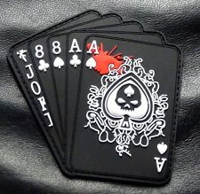 Dead Man's Hand Aces Full of 8's Spade 3D PVC Rubber Hook PVC Patch (PV2)