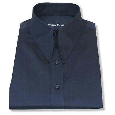 Herren Spear Point Vintage Kragen Hemd Schwarze Baumwolle 1930er Jahre Zweiter Mit Einem LangjäHrigen Ruf