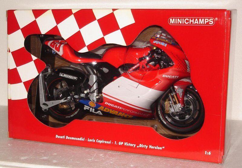 Más asequible Minichamps 1 6 Ducati Desmosedici  65 L. Capirossi 1st 1st 1st Gp Victory dirty version  comprar ahora