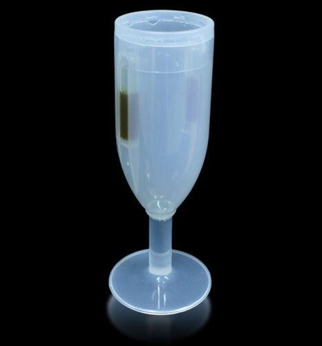 GLOWCUPS 6pk PACK BLUE Glow in the Dark CHAMPAGNE GLASSES 300ML Clearance Sale