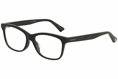23053a284b33 Gucci Men's Eyeglasses GG0162OA GG/0162/OA 001 Black Full Rim Optical Frame  55mm 889652088839 | eBay