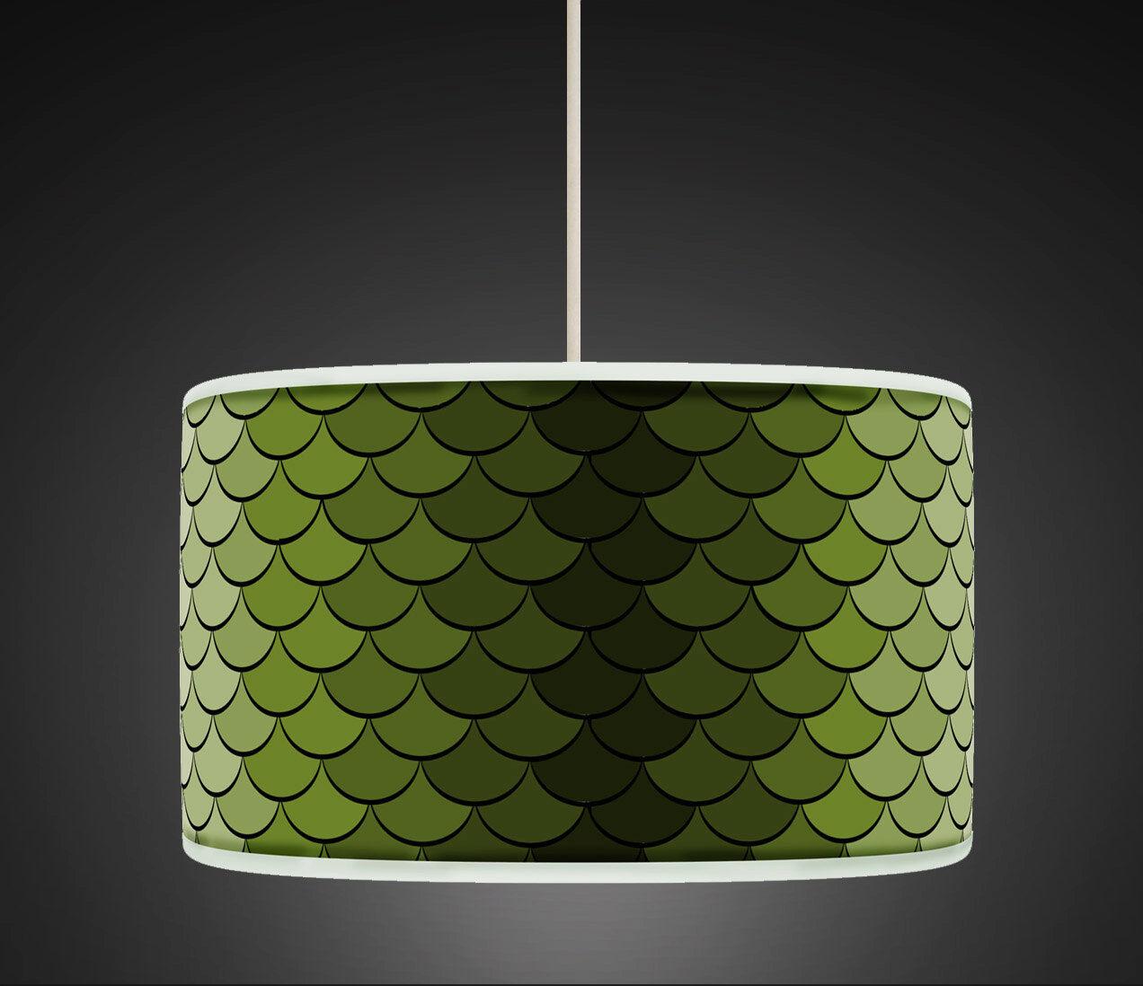 40cm verde Retrò Stile Geometrico fatto a mano mano mano Giclee Tessuto Paralume Ciondolo 458 0674f6