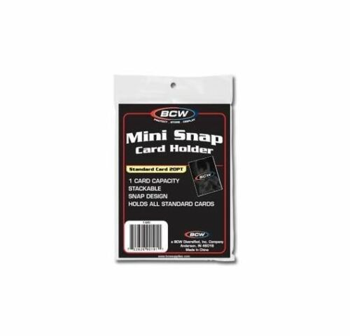 BCW Mini Snap Tite Card Holders Stackable Standard Size Archival Safe 6 Pack