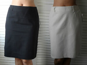 New-Woman-039-s-Ladies-Smart-Office-Fully-Lined-Linen-Cotton-Blend-Knee-Length-Skirt