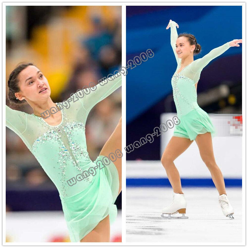 Marvellous Ice Skating Figure Dress Gymnastics Costume Green Y112 ...