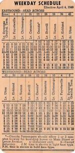 Calendario 1949.Horario De Bus Calendario Tarjeta Lineas De Bus Central De