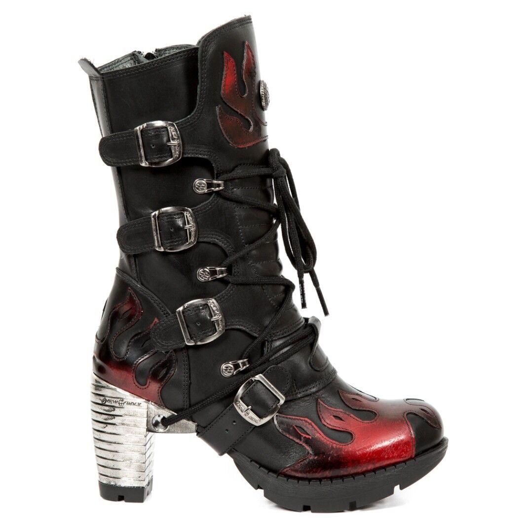 Newrock Rojo Nr M.TR081 S1 Rojo Newrock y Negro-New Rock Boots-Para Mujer b6df58