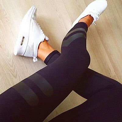 Women High Waist Fitness Leggings Running Yoga Stretch Sports Gym Pants Trousers