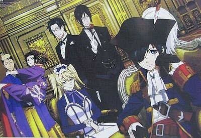 8PCS Anime Black Butler Sebastian Ciel Cosplay Mix Embossing posters