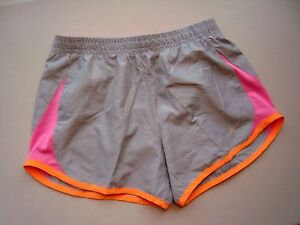f54a9bd92f718 Details about NIKE Girl's (Youth) Gray 5K Tempo Running Shorts Style  #716734 - NEW Size s