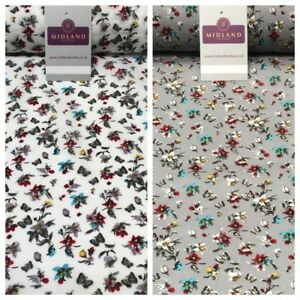 Floral-Butterfly-Printed-Cotton-Lawn-Dress-Fabric-58-034-Wide-MH954-Mtex