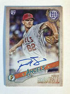 2018-Topps-Gypsy-Queen-Parker-Bridwell-Rookie-On-Card-Autograph-Auto-Angels-RC