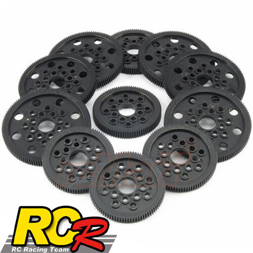 RCR Spur Gear 64 Pitch Set EP 1:10 RC Cars Buggy Drift F1 Touring #RCR-35466