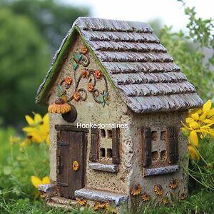 Miniature sunflower farm fairy house faerie gnome hobbit for Outdoor fairy doors australia