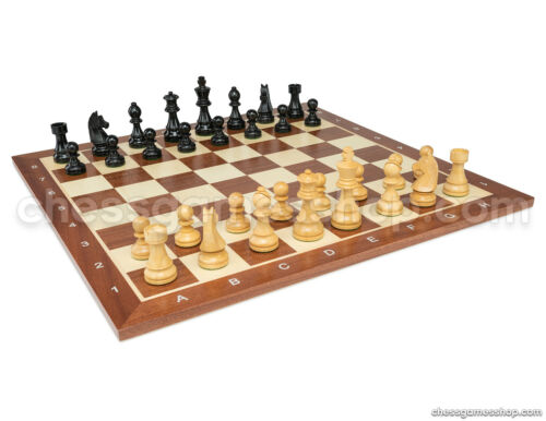 "3,75/"" chess pieces Wooden Tournament chess set Staunton Black chess board"