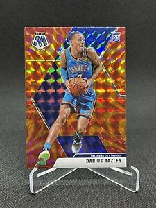 2019-20-Panini-Mosaic-Darius-Bazley-Rookie-Orange-Reactive-Prizm-RC-Thunder