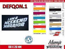 DEFQON.1 i am a weekend warrior - XL Aufkleber, Sticker, Autocollant, Étiquette