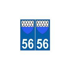 56 Morbihan autocollant plaque blason armoiries stickers département arrondis