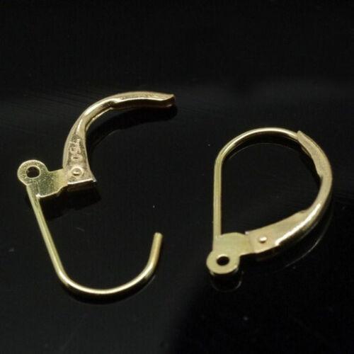 20Pcs Ear Gold Silver Hook Earrings Mark Lever Back Ear Jewellery Findings DIY