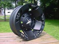 Xd Rockstar Dually Wheels Ford Chevy Dodge Black 16x6 Back In Stock W/ Lugs