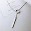 925-Sterlingsilber-Damen-Halskette-Circle-Balken-Bar-Lang-Kette-Silber-Filigran Indexbild 1