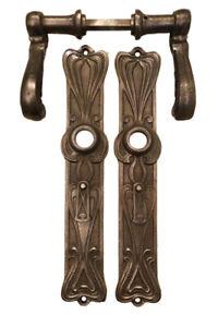 Drückergarnituren Türbeschläge 1904. 1 v Türklinken 5 antiken Türdrücker