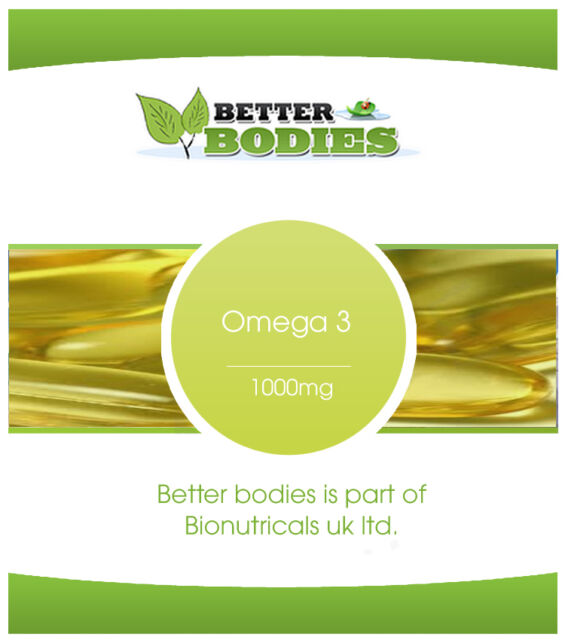 High Strength Omega 3 Fish Oil 1000mg Better Bodies Free Delivery