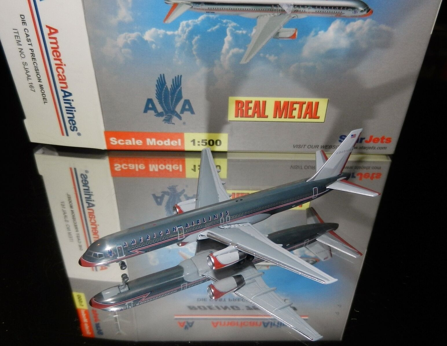 StarJets SJAAL167 American Airlines Boeing 757-200 Retro Livery 1 500 Scale 2002