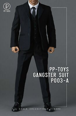PPTOYS 1//6 P003A WWII British Retro Gangster Suit Male Clothes Fit 12/'/' TBL Body