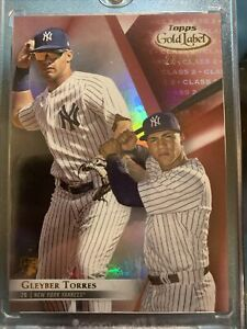 2018-Topps-Gold-Label-RED-Class-2-Rookie-RC-Gleyber-Torres-23-50-PSA-BGS