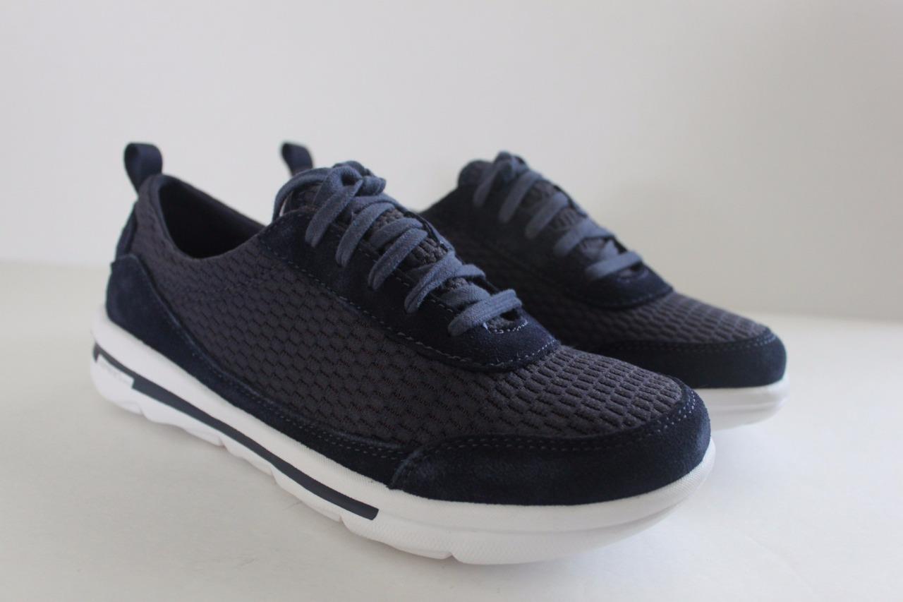 Rockport Women Marine Blue XCS Rock On Air Comfort Lace Up Sneakers Size 5.5 NIB