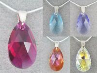 Tear Pendant 22mm Swarovski Crystal Elements Sterling Silver Jewellery Necklace