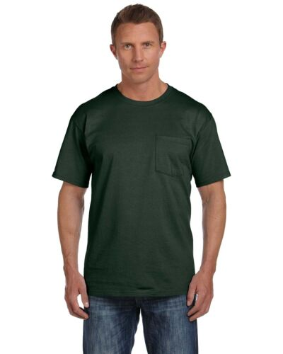 3931P Fruit of the Loom Mens HD Cotton T Shirt with Pocket Tee S-3XL 3930PR
