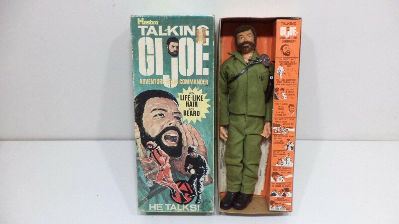 Vintage Talking G.I. Joe - Adventure Team Commander in Box - Hasbro 1970